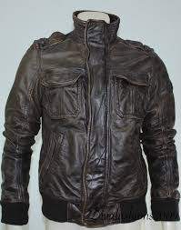 abercrombie fitch brown leather