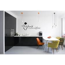 This Kitchen Is Seasoned With Love Vinyl Wall Decal Quotes Wall Stickers Kitchen Decals Home Decor Decals J189 Walmart Com Walmart Com