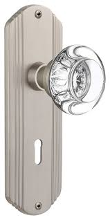 round clear crystal glass door knob