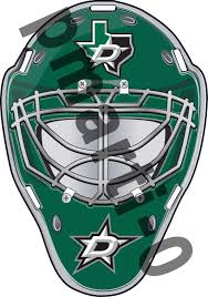 Dallas Stars Front Goalie Mask Vinyl Decal Sticker 5 Sizes Sportz For Less