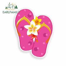 Flip Flops With Flowers Car Sticker