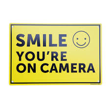 Sandleford Sign Smile You Re On Camera Bunnings Warehouse