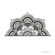 Half Mandala Vinyl Wall Decal Om Meditation Flower Bohemian Headboard Home Decor Bedroom Wall Sticker Living