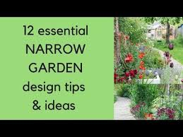 narrow garden design tips and ideas
