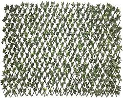 Amazon Com Sunnyroyal Artificial Leaf Faux Ivy Expandable Stretchable Outdoor Privacy Fence Screen For Balcony Patio Decoration Fencing Panel Single Sided Leaves Rose 1 Piece Garden Outdoor