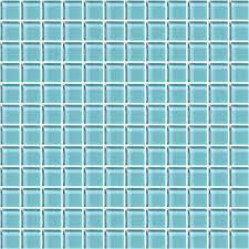 fountain blue 1x1 mosaic glass tile