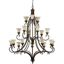 large edwardian style tiered chandelier