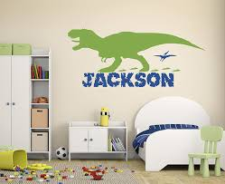 Amazon Com Personalized Boy Name Dinosaur Wall Decals Nursery Room Wall Decor Custom Wall Decal Vinyl Art Decor For Kids Room Baby