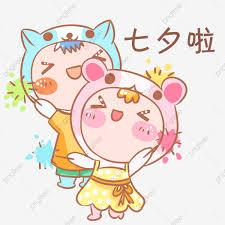 مهرجان تشيشي الزوجان الكرتون موضوع حزمة التعبيرية شخصية مضحكة مطيع