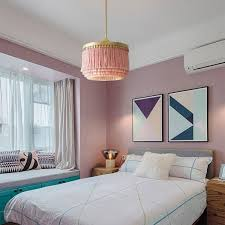 stylish pink pendant light fringe