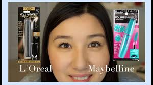 mascara review l oreal vs maybelline