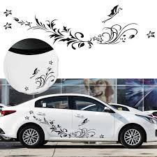 1 Set 3 Pcs Black Natural Flower Vine Dragonfly Image Car Decal Vinyl Side Body Stickers Reflective Decals Aliexpress