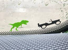T Rex Decal For Jeep Wrangler Front Window Etsy