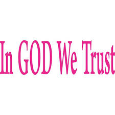 10in X 3in God We Trust Car Bumper Sticker Pink Vinyl Truck Window Decal Walmart Com Walmart Com