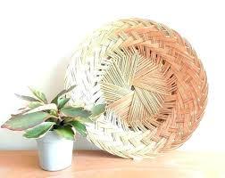 wicker hanging baskets sphere planter
