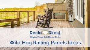 Using Wild Hog Railing Panels On Your Deck Youtube