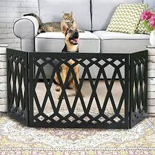 Amazon Com Etna 3 Panel Diamond Design Wood Pet Gate Decorative Black Tri Fold Dog Fence For Doorways Stairs Indoor Outdoor Pet Barrier 24 48 Inches Wide X 19 Inches Tall Pet Supplies