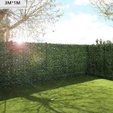 1 3m Artificial Privacy Fence Screen Faux Ivy Leaf Screening Hedge For Outdoor Indoor Decor Garden Backyard Patio Decoration Artificial Plants Aliexpress