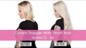 crown topper with short hair hidden