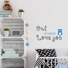 Owl Always Love You Cute Quote Nursery Kids Bedroom Wall Art Wall Sayings Vinyl Letters Stickers Wall Stickers Aliexpress