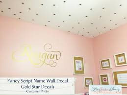 Name With Swirls Vinyl Wall Decal