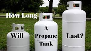 how long does an rv propane tank last