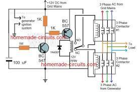 generator changeover relay circuit