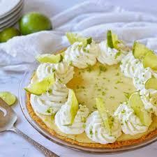 fresh key lime pie in fine taste