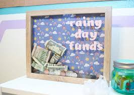 piggy bank from a shadow box frame