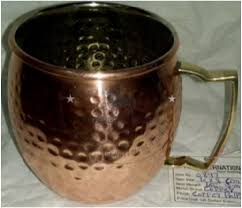 meval edge copper hammered glass