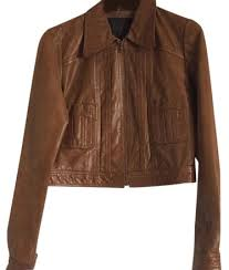 guess brown collection leather jacket
