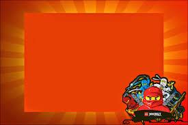 Ninjago Invitaciones Tarjetas Y Marcos Para Imprimir Gratis