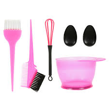 5pieces hair dye color brush and bowl