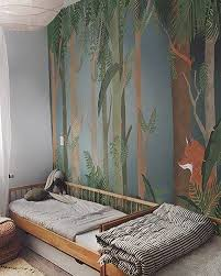 Forest Wallpaper In Kids Room Little Hands Kids Room Wallpaper Baby Room Decor Kid Room Decor
