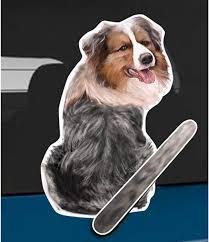 Amazon Com Wagging Wipers Australian Shepherd Dog Car Rear Wiper Sticker Decal Automotive