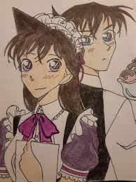 Shinichi and Ran maid cafe   Detective Conan & Magic Kaito. Amino