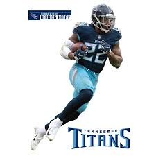 Tennessee Titans Derrick Henry Fathead 3 Pack Life Size Removable Wall Decal