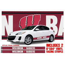 Wisconsin Badgers Vinyl Auto Stripe Decal