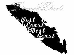 Vancouver Island Car Decal West Coast Best Coast Vinyl Car Etsy
