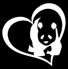 Panda Bear Heart Vinyl Decal Sticker Car Window Wall Bumper I Love Cute Animal For Sale Online