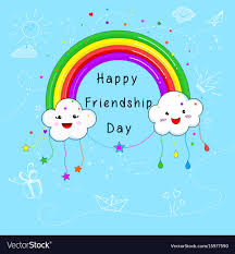 Happy friendship day card design ...