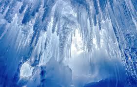 wallpaper cave glacier blue icicles