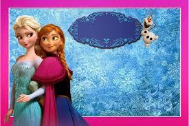 Tarjetas De Invitacion Cumpleanos Frozen Para Imprimir Para Ver