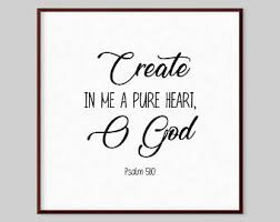 Psalm 51 On Canvas Etsy