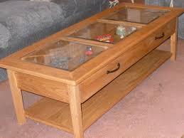 glass top display coffee tables
