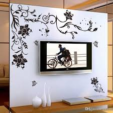 Black Flower Vine Wall Stickers Home Decor Large Paper Flowers Living Room Bedroom Wall Decor Sticker Wallpaper Princess Wall Decals Princess Wall Stickers From Kity12 3 02 Dhgate Com