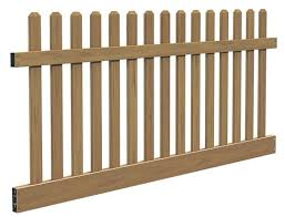 Vinyltech Fencing Woodgrain Dog Ear Picket Fence Panel Kit