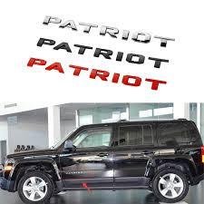 Jeep Patriot Logo 3d Letters Car Bagde Sticker Emblem Decal Wish