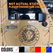 Seal Republic Of Texas Us State Car Decal Bumper Sticker Ebay