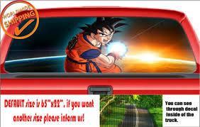 W1047 Dragon Ball Z Goku Go Anime Wrap Perforated Car Decal Rear Window Sticker For Sale Online Ebay